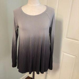 Hollister gray ombré dip dye tunic top shirt